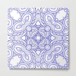 Mindful Mandala Pattern Tile MAPATI 177 Metal Print
