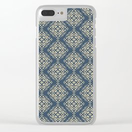 Damask Pattern VI Clear iPhone Case