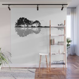 Acoustic Guitar Forest Nature Reflection Musician Wall Mural