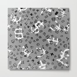 pattern with currency Metal Print