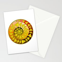 Spiral Wedges Stationery Cards