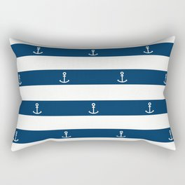 SAILORS ANCHOR STRIPES Rectangular Pillow