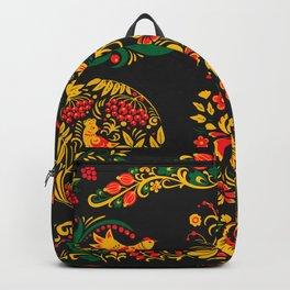 Native russian khokhloma Backpack