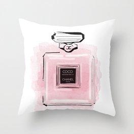 Pink perfume #3 Throw Pillow
