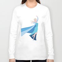frozen elsa Long Sleeve T-shirts featuring Frozen - Elsa by TracingHorses