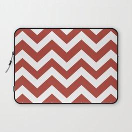 Medium carmine - red color - Zigzag Chevron Pattern Laptop Sleeve