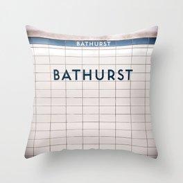 Bathurst Station Toronto Subway Sign Throw Pillow