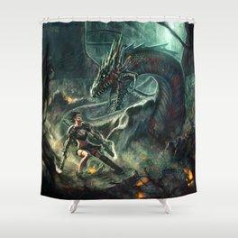 Face a Dragon Shower Curtain