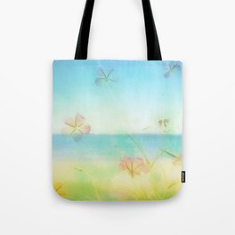 Dreamy Summer Beach Flowers Tote Bag