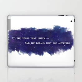To the Stars that Listen (White) - A Court of Mist and Fury Laptop & iPad Skin
