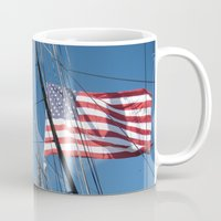 flag Mugs featuring Flag by courtney2k ⚓ design™