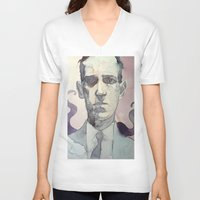 lovecraft V-neck T-shirts featuring LOVECRAFT by Germania Marquez