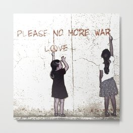 Banksy Love Not War Graffiti  Metal Print