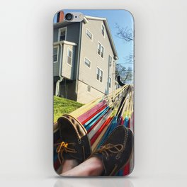 Day Off, Feet in Loafers, In the Hammock iPhone Skin