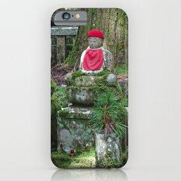 red hat red bib jizo on mount koya iPhone Case