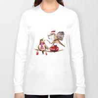 santa Long Sleeve T-shirts featuring Santa by Anna Shell