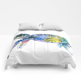 Sea Turtle Illustration Comforters