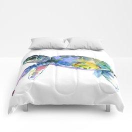 Sea Turtle, children artwork Illustration Comforters