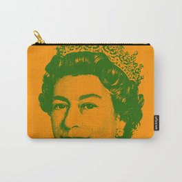 Queen Elizabeth Orange and Green Carry-All Pouch
