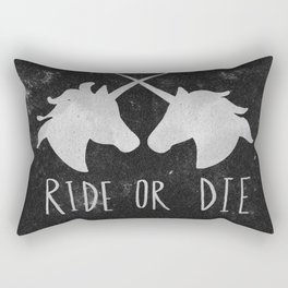 Ride or Die Unicorn Magic Rectangular Pillow