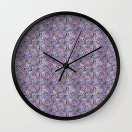 Roses & Forget Me Nots Polka Dots Wall Clock