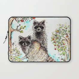 Raccoons in the Forest (color edition) Laptop Sleeve