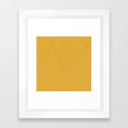 Lines / Yellow Framed Art Print