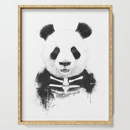 Zombie panda Serving Tray