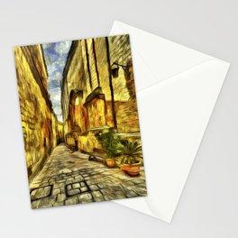 Mdina Street Malta Van Gogh Stationery Cards