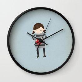 Girl Mending Broken Heart Wall Clock
