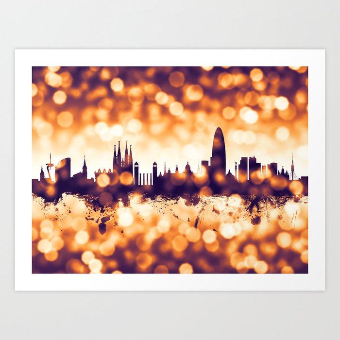 3980c6f17 Barcelona Spain Skyline Art Print by artpause