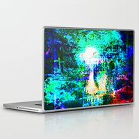 "hologram Laptop & iPad Skins featuring "" The voice  is a second face"" by shiva camille"