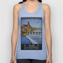 Albi, French Travel Poster Unisex Tank Top