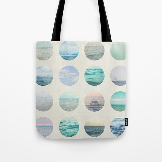 Ocean Polka dot  Tote Bag