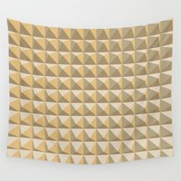 pyramid Wall Tapestries featuring pyramid by Ioana Luscov