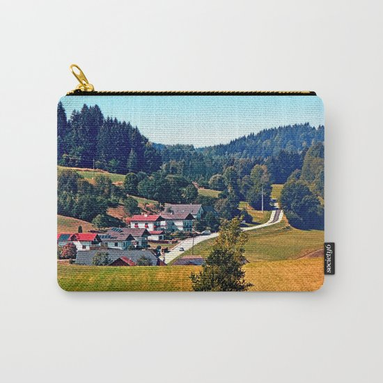 A village, some trees, and more boring scenery Carry-All Pouch