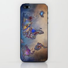 Stars world map. Blue iPhone & iPod Skin