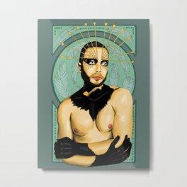 Drag Nouveau Metal Print
