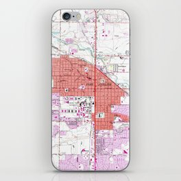 Vintage Map of Fort Collins Colorado (1960) iPhone Skin