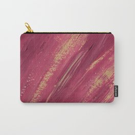 Abstract pink and yellow paint smears Carry-All Pouch