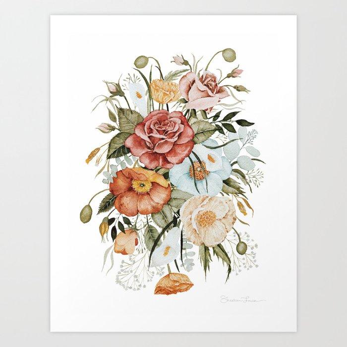 Roses and Poppies Kunstdrucke
