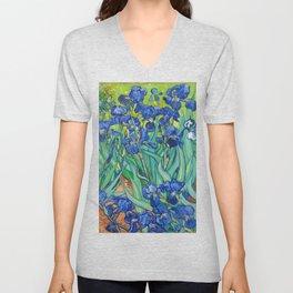 Vincent Van Gogh Irises Painting Unisex V-Neck