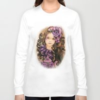 lavender Long Sleeve T-shirts featuring Lavender by Sheena Pike ART