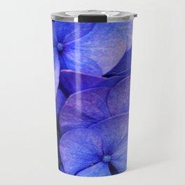 Hydrangea Dark flower pattern Travel Mug