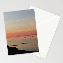 Kayak and the Sunset Stationery Cards