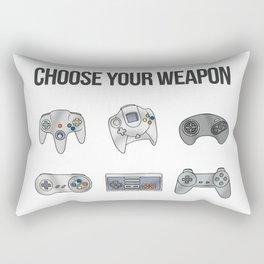 Choose Your Weapon Rectangular Pillow