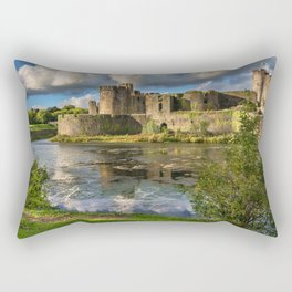 Caerphilly Castle Moat Rectangular Pillow
