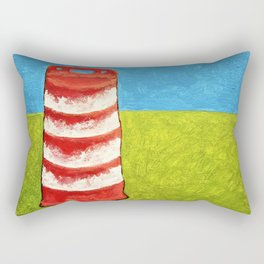 Darrel the Barrel by Mike Kraus - art milwaukee wisconsin muskegon michigan great lakes traffic cone Rectangular Pillow