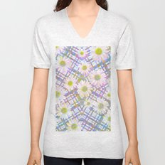 Daisy Plaid Unisex V-Neck