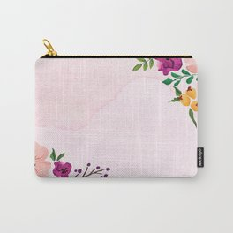 God Bless Our Home Floral Art Carry-All Pouch